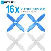 BETAFPV EMAX Avan 16 pièces 2 à 4 Lames Accessoires 1.5mm Arbre Hélices pour Beta85X Whoop Drone 110x 4500 6000KV Moteurs Sans Balais