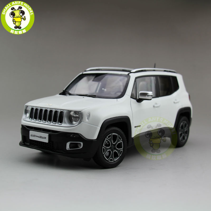 1/18 Jeep Renegade Cherokee Diecast Metal Car Suv Model Collection Gift White Color rian day 1 24 scale suv car model toys jeep renegade trailhawk diecast metal car model toy for gift collection kids