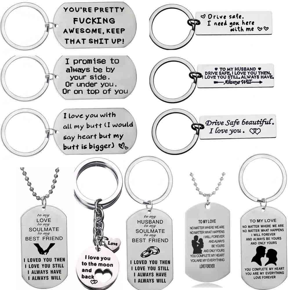 Key Ring Gift For Him Her Boyfriend Girlfriend Husband Gifts Keyring Love Heart Pendant Anniversary Valentines Keychain