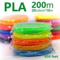 3d pen filament ABS/PLA 1.75mm 200m 20color perfect 3d pens plastic Environmental safety plastic Birthday gift Lowest price