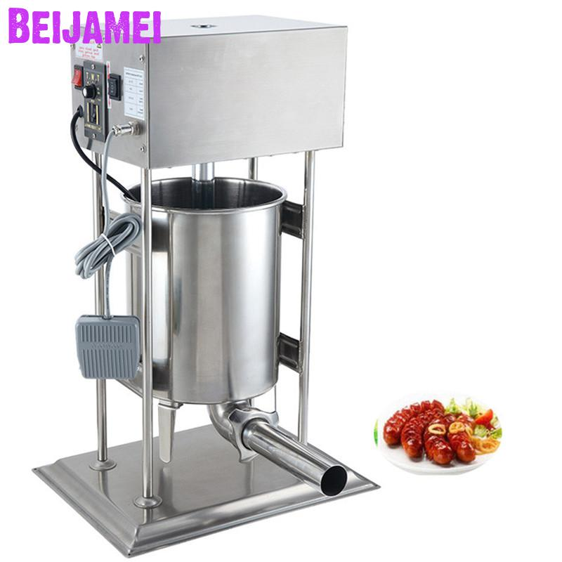BEIJAMEI 10L Automatic Sausage Stuffer Machine Electric Sausage Filler Making Machine CommercialBEIJAMEI 10L Automatic Sausage Stuffer Machine Electric Sausage Filler Making Machine Commercial