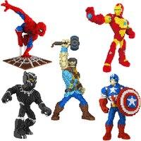 Super Hero Avengers Captain Marvel Ant Man DIY Wasp particlesdiy Building Blocks Hulk Black Panther Legoings Toys Children gift