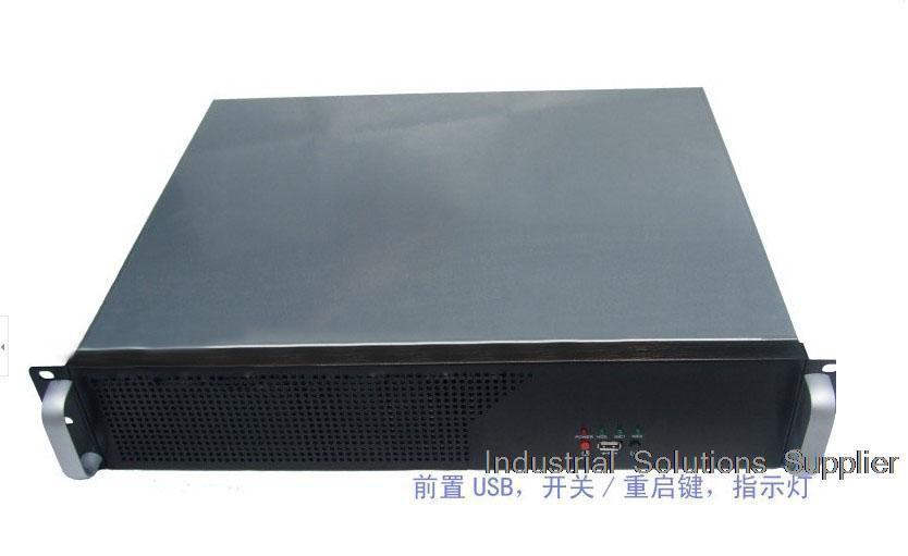 NEW Short 2u computer case 2u industrial computer case 2u server firewall computer case 3 fan aluminum panel