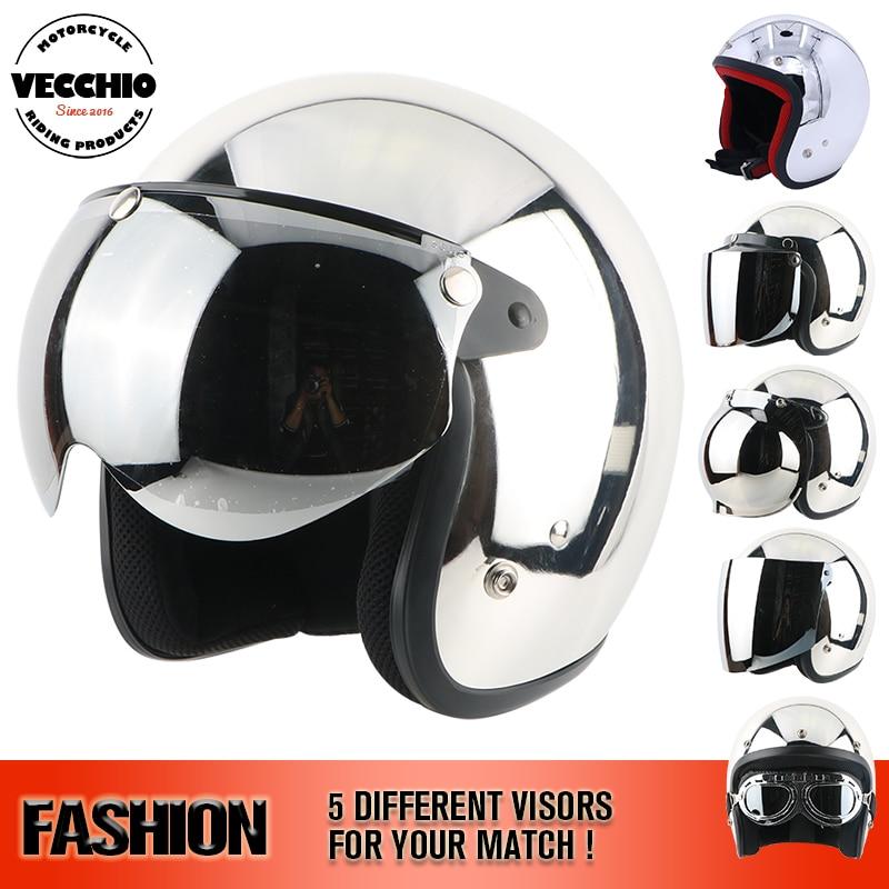 THH Moto Motocross Casco specchio casco D'argento del Bicromato di Potassio piccolo Viso Aperto casco Harley Casco Capacete rock star Motoqueiro