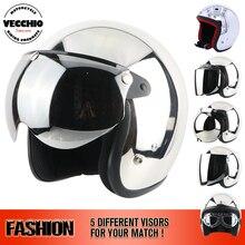 THH Motorcycle Motorcross Helmet mirror helmet Silver Chrome small Open Face Harley helmet Casco Capacete rock star Motoqueiro