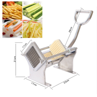 Household stainless steel fries manual fries machine potato puffing machine chopper commercial vertical