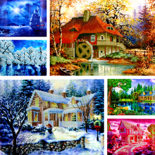 Dinamond Painting 5D diamond embroidery for Decoration Scenery Design Round drill Floral Diamond Mosaic Wall Decor