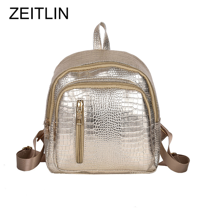 Soft Zipper Pu Leather Women Backpack Female Korean Rucksack Leisure Student School Bag Preppy Style Backpack Sac A Dos S497