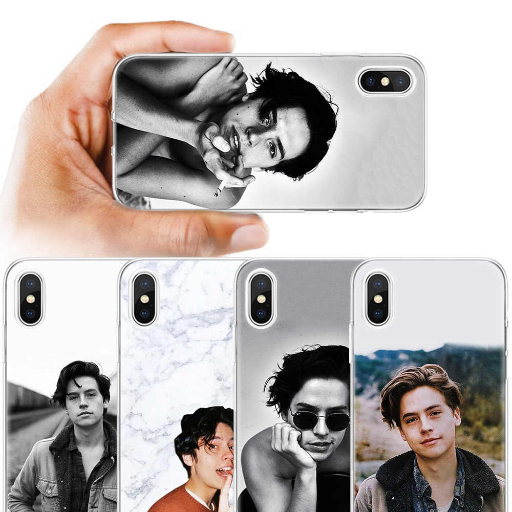 BINYEAE Cole Sprouse Moley Silicone Case Cover for iPhone XS Max XR X 7 8 6 6S Plus X 5 5S SE 5C 7Plus 8Plus 7+ Back Shell Coque
