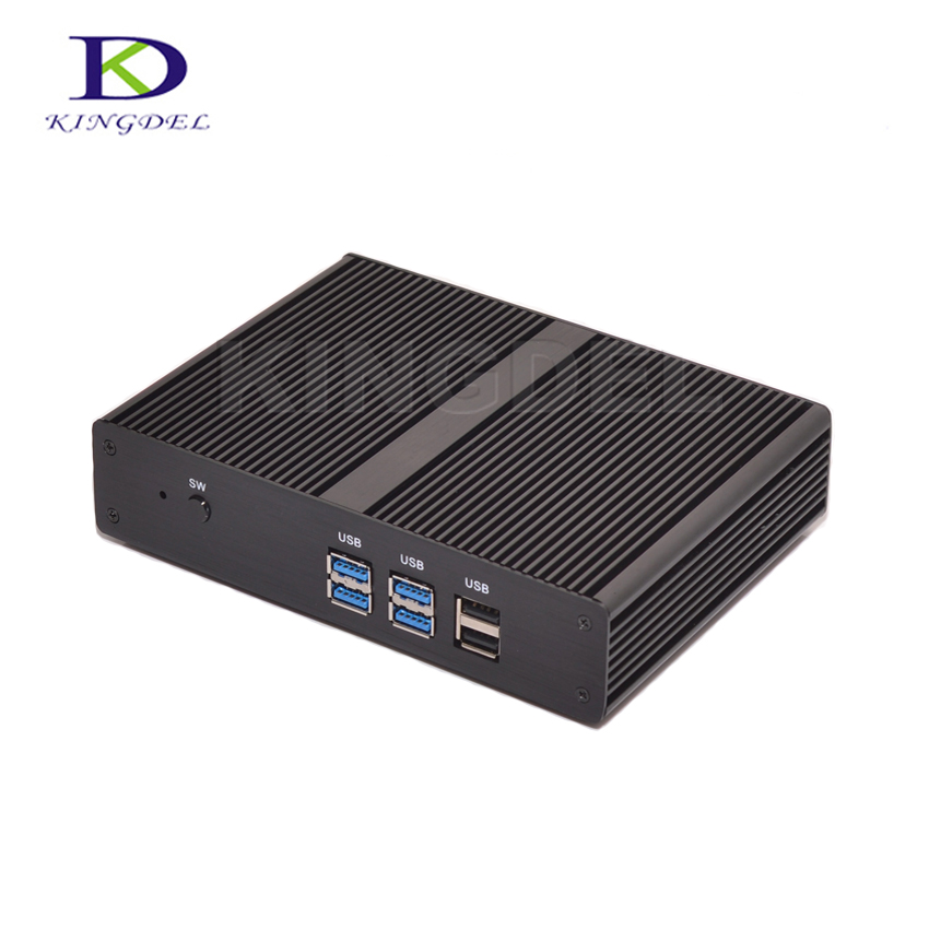 Barebone Mini PC Fanless Mini PC Computer Intel Celeron 2955U/Pentium 3556U Dual Core Micro Desktop PC 1080PUSB3.0 HDMI Tiny PC