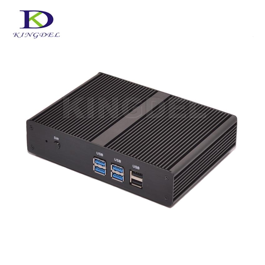 Barebone Mini PC Fanless Mini PC Computer Intel Celeron 2955U/Pentium 3556U Dual Core Micro Desktop PC 1080PUSB3.0 HDMI Tiny PC