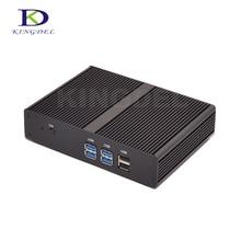 Barebone Мини-ПК безвентиляторный Мини-ПК компьютер Intel Celeron 2955U/Pentium 3556U двухъядерный микро Настольный ПК 1080PUSB3. 0 HDMI крошечный ПК