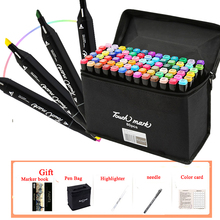 30/40/60/80/168 colors set art markers alcohol Wide double head marker Tips For Graphic Artist Manga Marker