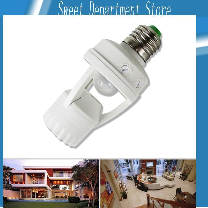110V-240v  360 Degrees 60W PIR Induction Motion Sensor IR infrared Human E27 Plug Socket Switch Base Led Bulb light Lamp Holder l0606 infrared human body induction lamp auto pir 6 leds light 6v