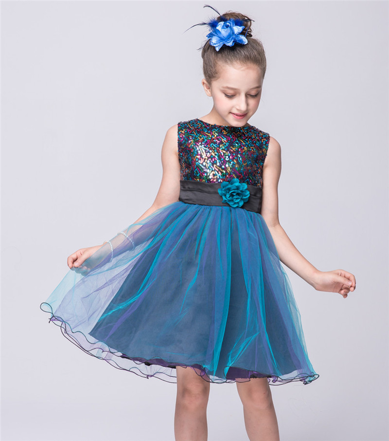 2018 Marca Flower Girl Abiti Da Sera Con Paillettes Partito Dell ... dc27fed253b