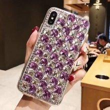 XINGDUO Super luxury Glitter big Diamonds Chromatic Mobile phone shell TPU Soft cover for Samsung Note8 9 S10 S8 S9 plus S7edge