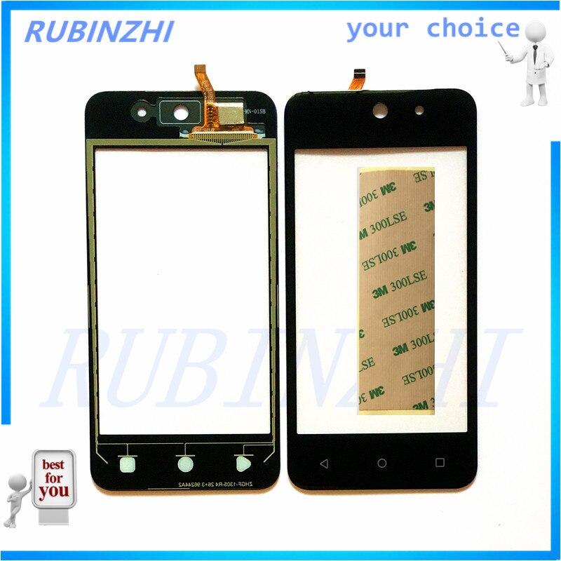 RUBINZHI Toque Do Telefone Móvel Tela Sensível Ao Toque de Substituição Painel Para DEXP Ixion M340 Frente Sensor De Vidro Peças de Reparo com Fita