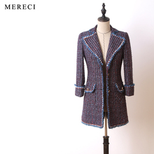 purebliss tweed jacket 2017 runway designer high quality elegant formal women jacket coat