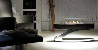 18 Inch Long Silver Intellgent  Wifi Remote Control Modern Coffee Table Fireplace