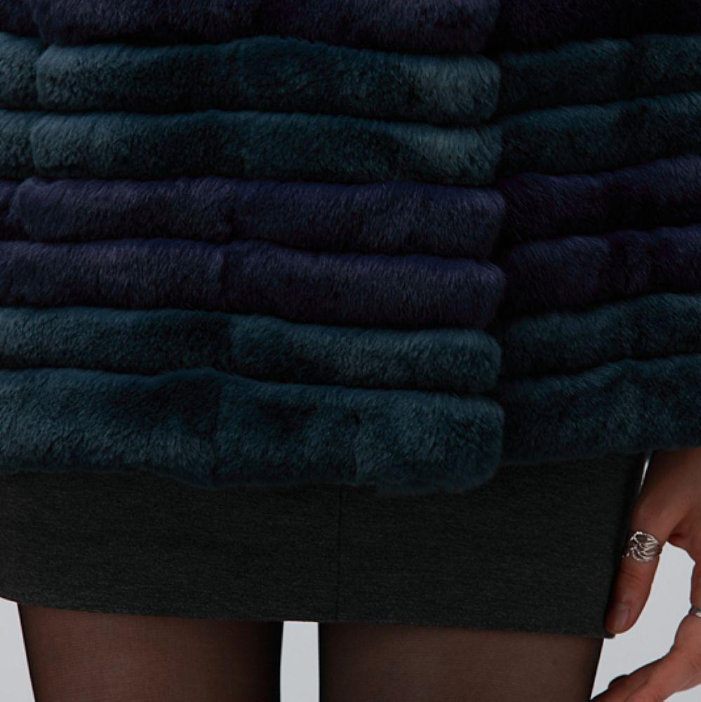 Falapu Manteau Lapin Mode Hs133 Douille 1 Femmes Automne Rex 022 Fourrure De hiver 100 Demi Réel rrXqYA