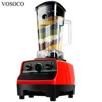 VOSOCOBlender Mixing Machine Ice Crusher Sand Ice Machine Stir Milkshake Soybean Milk Juicer 2L 2000W Food