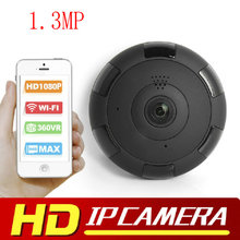 1.3MP V380 HD 1920*1080P VR WIFI IP Camera Support Max 128G TF Card,P2P Two-Way Audio IR 360 Degree IP CAM WI-FI P2P