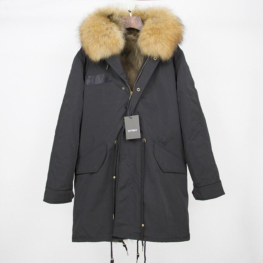 2019 Real Fur Coat Winter Jacket Women Long Parka Waterproof Big Natural Raccoon Fur Collar Hood Thick Warm Real Fox Fur Liner 95