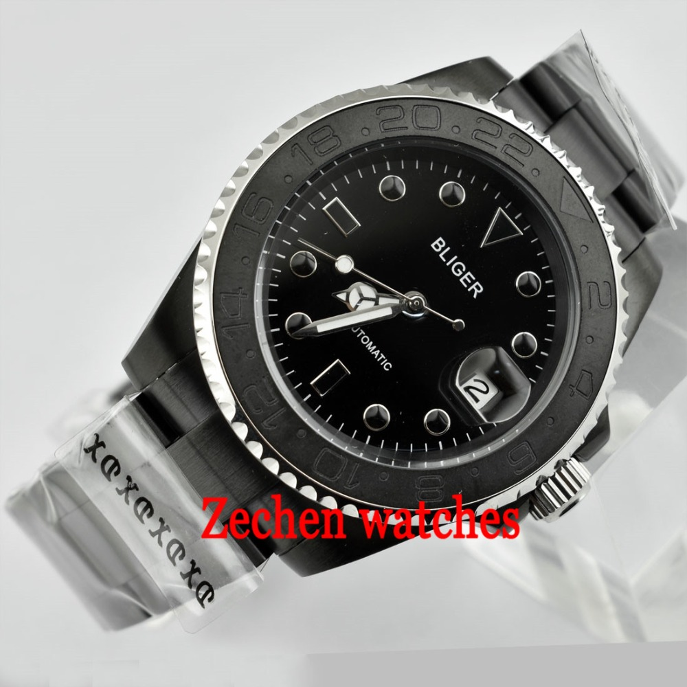 40mm Bliger watch Sapphire glass Automatic Mechanical Luminous Mens Watch WristWatch цена и фото