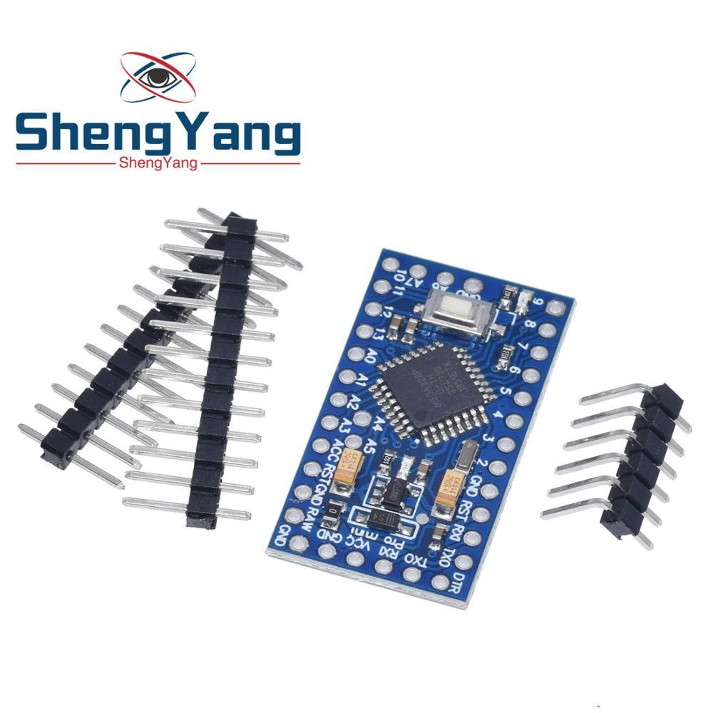 Pro mini Atmega328P Pro Mini 328 Mini ATMEGA328 3.3V 8MHz 5V 16Mhz Ch340g CP2102 FT232RL driver for Arduino Compatible Nano
