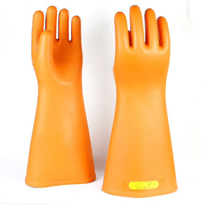 hot products details for detailed look US $46.31 7% OFF 25KV High Voltage A.C Insulating Work Gloves Natural  Rubber Electrical Insulation Gloves-in Safety Gloves from Security &  Protection ...