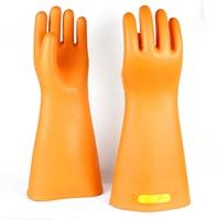 25KV Hohe Spannung AC Isolierende Arbeit Handschuhe Natürliche Gummi Elektrische Isolierung Handschuhe-in Schutzhandschuhe aus Sicherheit und Schutz bei