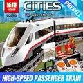 Lepin 02010 Nuevo 610 Unids Creador Serie Del Tren de Pasajeros de Alta velocidad Conjunto de Bloques de Construcción de Camiones de control Remoto Juguetes de Los ladrillos 60051