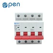 4P 125A  10kA breaking capacity MCB min circuit breaker over load /short circuit protection цена в Москве и Питере