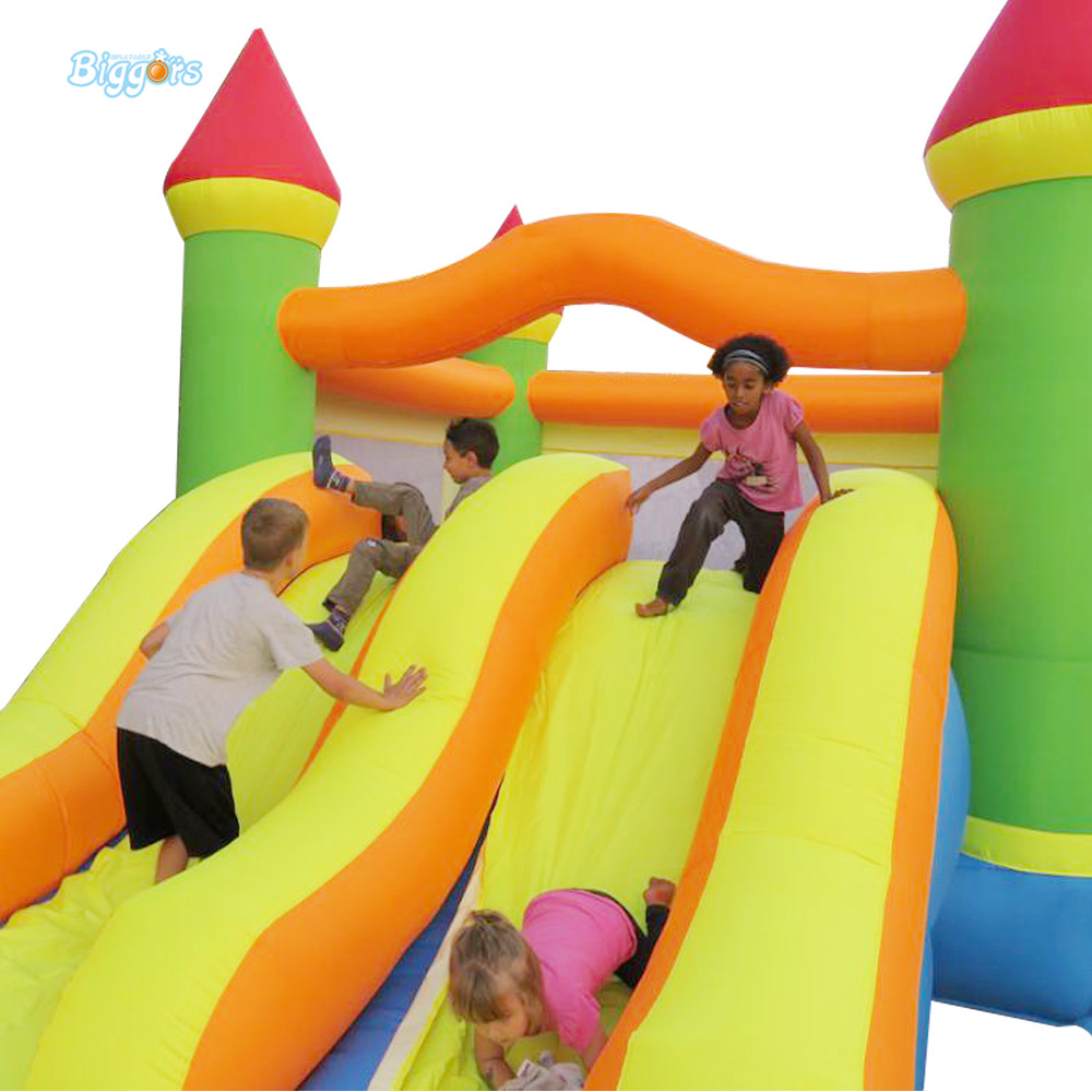 FREE SHIPPING YARD Dual Slide Bouncy Castle Inflatable Bouncer Bounce House Inflatable Trampoline  for Residential Use  yard dhl free shipping inflatable bouncer bouncy jumper colorful castle with long slide for kids