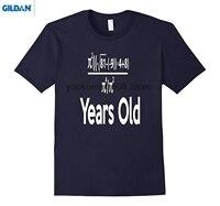GILDAN 100 Cotton O Neck Custom Printed T Shirt 80 Years Old Algebra Equation Funny 80th