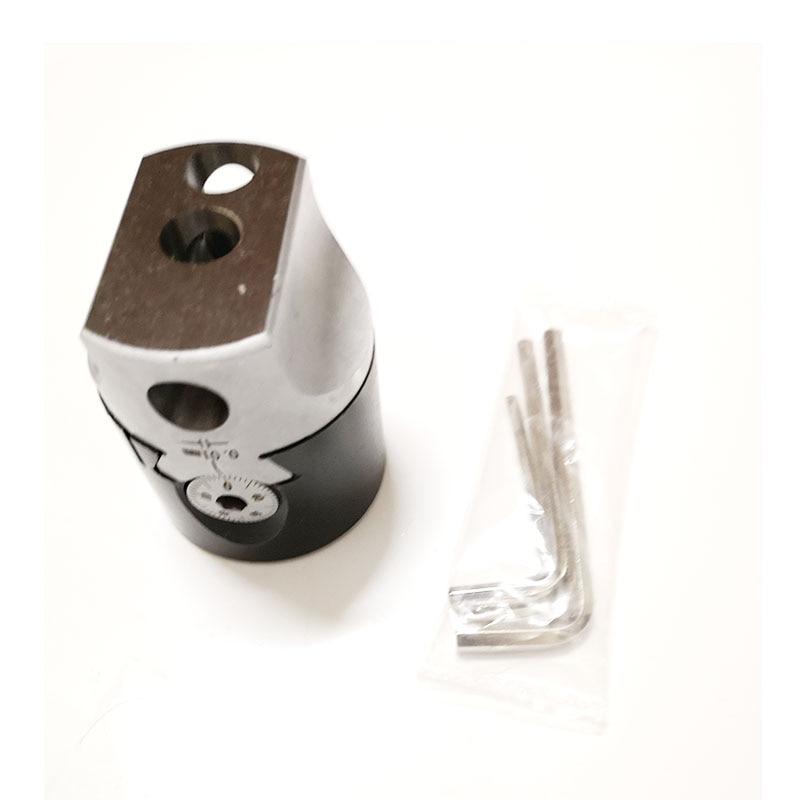 "Купить с кэшбэком 1set BT40 draw bar M16 thread +F1 12 50MM (2"")  boring head F1 boring tool for CNC machine Mini graduation: 0.01mm"