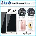 Grade aaa +++ para iphone 6 s plus lcd 3d com força Substituição Da Tela de toque de 5.5 Polegada Display Com Câmera + Sensor De titular