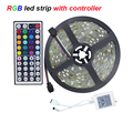 Waterproof led tape SMD5050 5Meter led strip light 30led/M DC12V safe led bar light ,44key controller for RGB