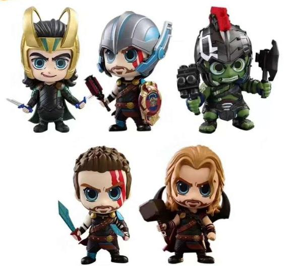 NEW hot 10cm Avengers Thor Ragnarok Hulk Gladiator Loki Super hero action figure toys Christmas gift 2017 new avengers super hero iron man hulk toys with led light pvc action figure model toys kids halloween gift