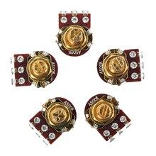 Set of 5 Golden Guitar Bass Pots A500K-ohm Potentiometer Copper for Electronics 5x audio 500k guitar mini pots short split shaft potentiometers a500k
