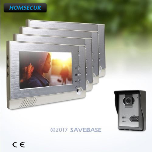 HOMSECUR 7inch Wired Video Door Intercom System with IR Night Vision for Home Security