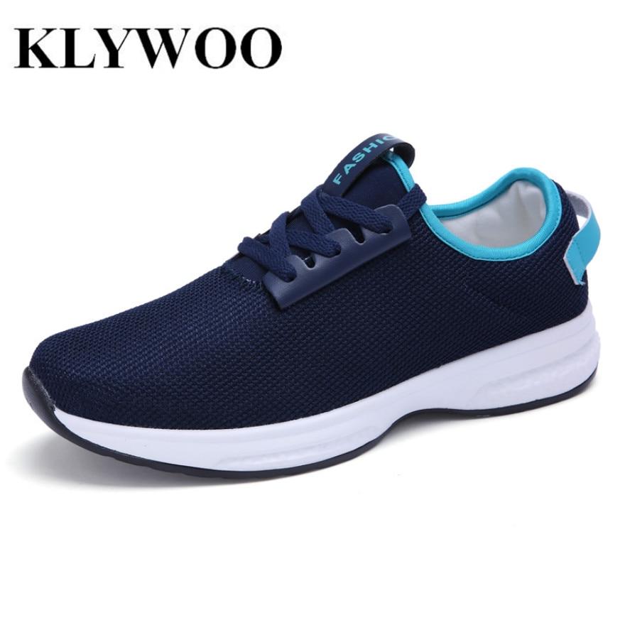 Klywoo 2017 nueva llegada de los hombres zapatos de malla de aire con cordones z