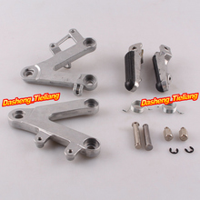 Aluminum Alloy Front Rider Foot Pegs Footrest Brackets for Honda CBR400 90 97 NC29 Motorcycle Spare
