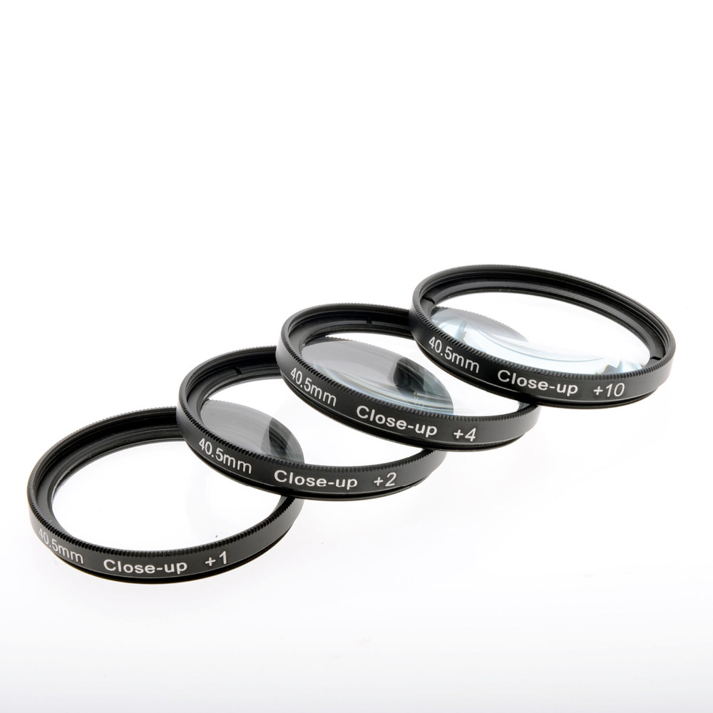 JUST NOW High-Profession Close Up Macro Lens Kit (+1 / +2 / +4 / +10) Diopter Filters Set for DSRL camera - Black (40.5mm)