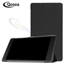 цены на Qosea For Lenovo Tab 7 Essential 2017 TB-7304 7304F 7304I 7304X PU Leather Smart Stand Case 7.0 inch Tablet PC Stand Back Cover  в интернет-магазинах