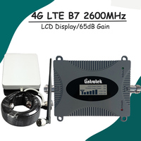 LCD Display 4G LTE B7 2600MHz Mobile Phone Signal Repeater Booster Amplifier 4G Panel Antenna+10m Cable Full Kit for Russia S5+2