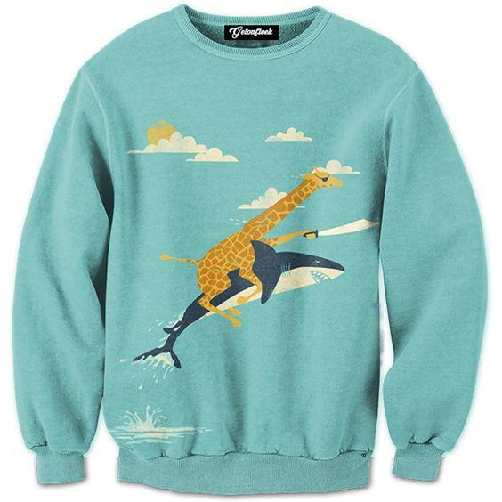 Giraffe Pirate Crewneck Hip Hop Hoodies&Sweatshirt