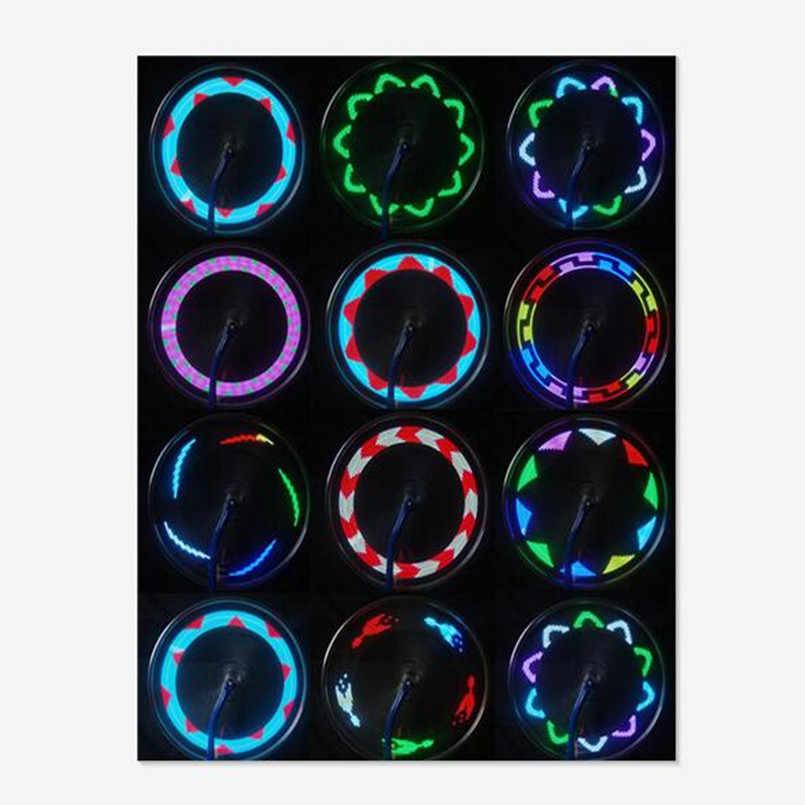 14 Led Motorfiets Fietsen Fiets Wiel Signal Tire Spoke Light 30 Veranderingen Fiets Reflector Fluorescerende Lampka Rowerowa
