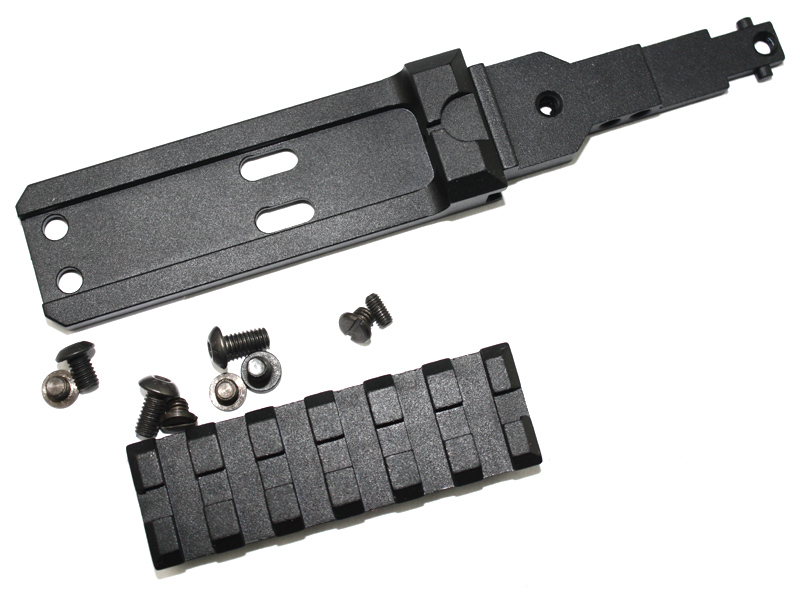 Tactical font b CNC b font Rear Rail Mount sight rail fit for AK series airsoft