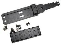 Tactische CNC Achter Rail Mount sight rail fit voor AK series airsoft electric gun AEG jacht scope-Gratis verzending